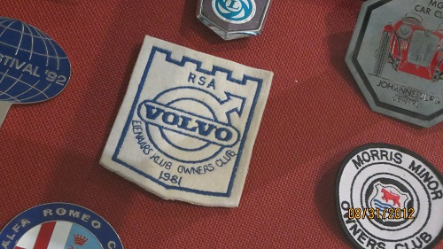 Wow - a 1981 Volvo Owners Club of SA badge!