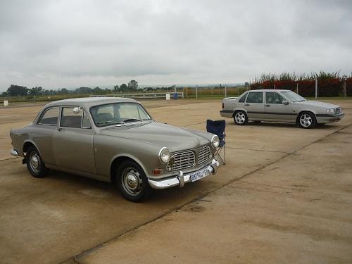 Brian's two silver Volvo's
