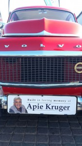 Tribute to the late Apie Kruger who remained loyal to Volvo and owners when they disinvested.