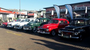 Some of the Volvos on display.