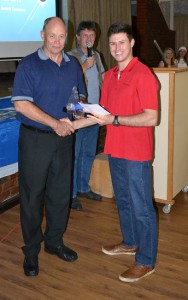 Young Deon receiving his award