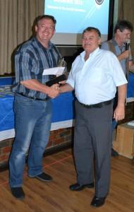 Boetie receiving his award