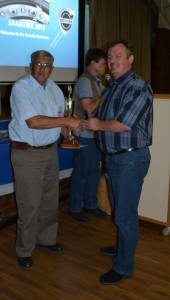 Hersel receiving his award