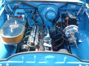 Alda's engine bay...oops...the P220's engine bay