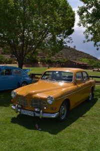 According to Sandra Naidoo....Ravi's wife....this is KAPOEN...a colour that is a mixture between pumpkin and sh.t.....and a confirmed original Volvo colour!