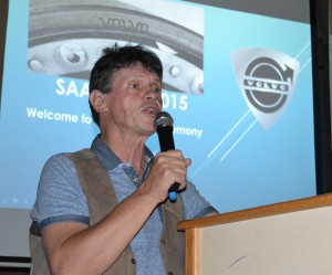 Stuart Johnston well known motoring journalist and TV personality our MC for the evening.