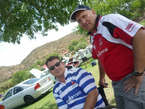 Rivals in Rugby....yet both Volvo fans...